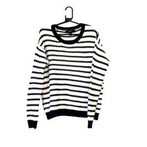 Forever 21 Black & White Striped Sweater | SX L